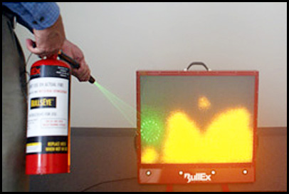 A Fire Extinguisher Simulator..With Lasers!   Gearfuse