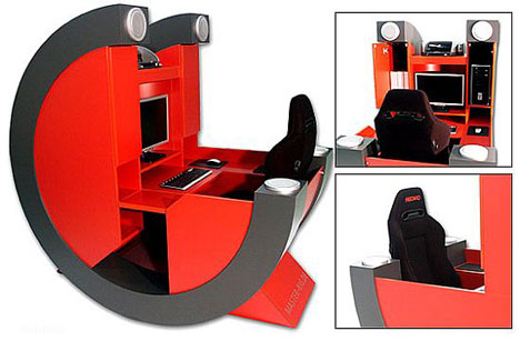For Those About To Game: Battle-Rig Pro Gamer Desk | Gearfuse