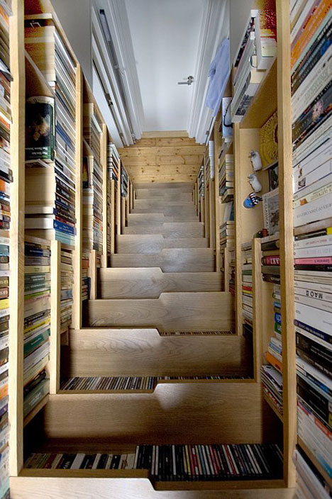 Superieur The Staircase Library Utilizes All Of Its Space By Creating Book Shelves In  The Space Under Each Individual Stair. Imagine All Of The Wasted Space In A  ...