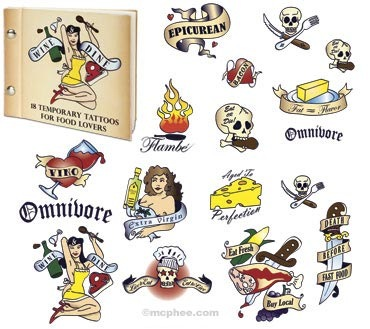 food tattoos Temporary Tattoos For Food Addicts