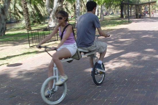Stupid Person Riding Bike