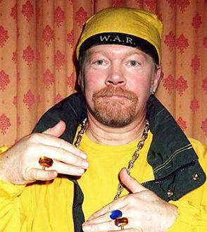 Axl Rose posing with his bling