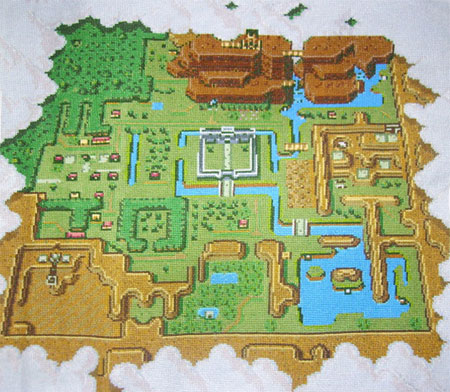 who has recreated the entire world map of the SNES classic The Legend of
