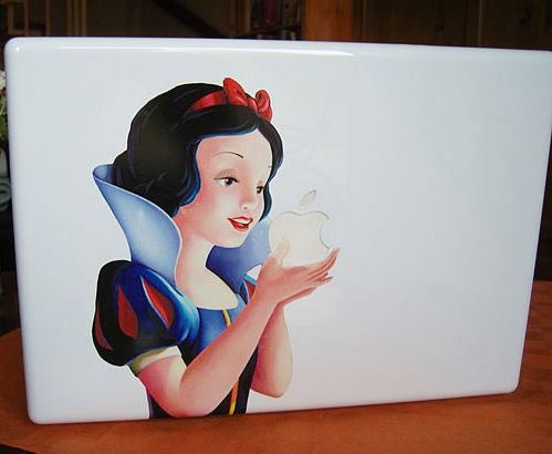 watch 9a561 8921e Snow White Apple Macbook Case Mod | Gearfuse
