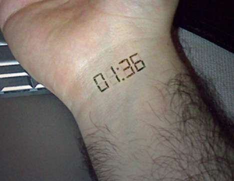 Subdermal Implant Electric Watch Tattoo: Internal Geekery