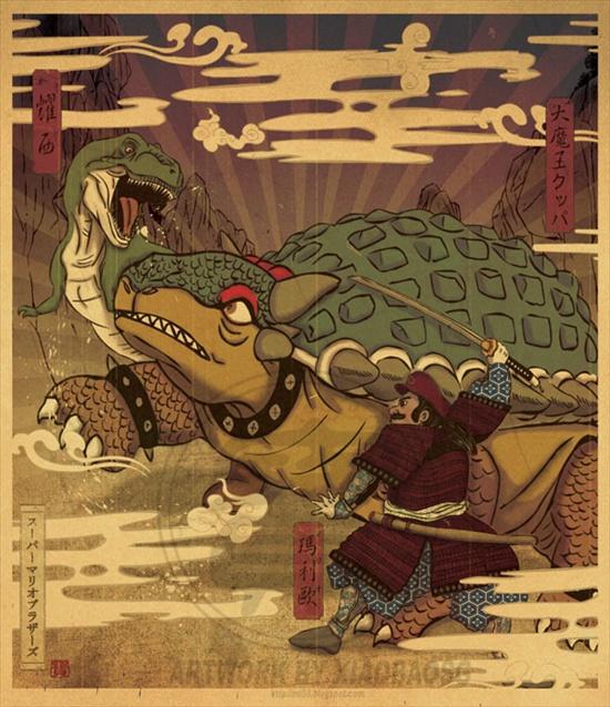 mario-bowswer-japanese-art