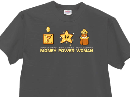 money-power-women-mario-shirt