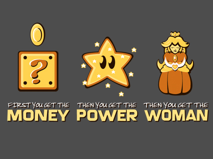 money-power-women-mario-shirt2