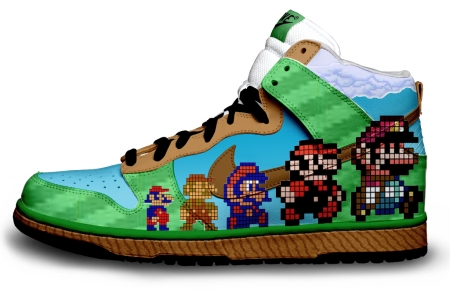 nike sneaker1 The Coolest and Geekiest Custom Nike Sneakers Youll Ever See