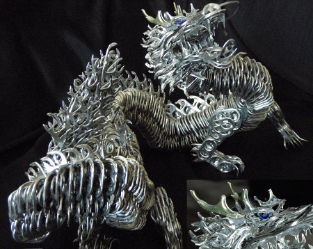 Crafts Made with Can Tabs http://www.gearfuse.com/soda-can-pull-tab-dragon/