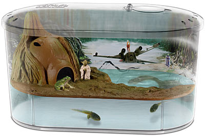 ... Frog Habitat Tank: The Force is With You AND Your Pet Frog Gearfuse