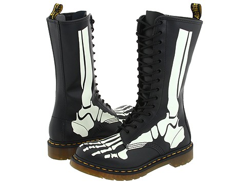 Glow-In-The-Dark Skeleton Combat Boots | Gearfuse
