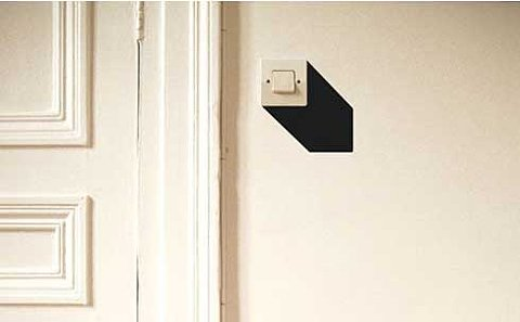 Create 3d Illusion With Simple Black Vinyl Wall Stickers