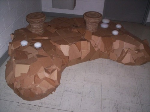 Xbox Controller Chair Made Out Of Cardboard Gearfuse
