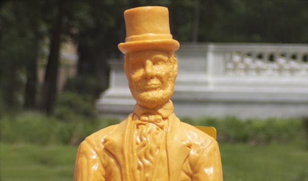 Because It S Friday Abraham Lincoln Made Of Cheddar And Other Cheese Sculptures Gearfuse