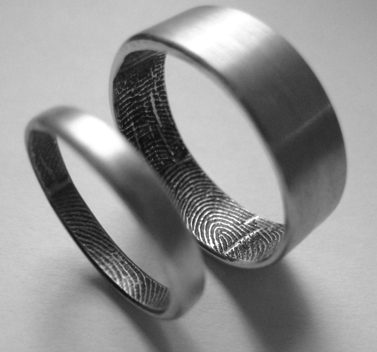 Fingerprint ring gearfuse for Fingerprint jewelry by first impressions