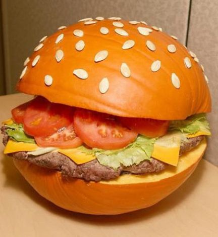 hamburger-pumpkin-art