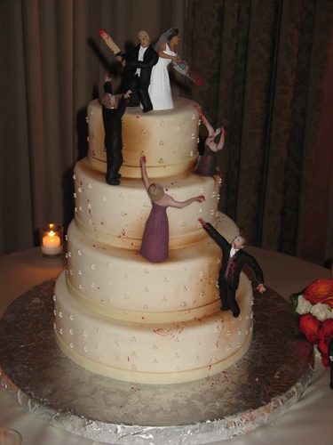 coolest wedding cakes ever the and slash wedding cake gearfuse 12932