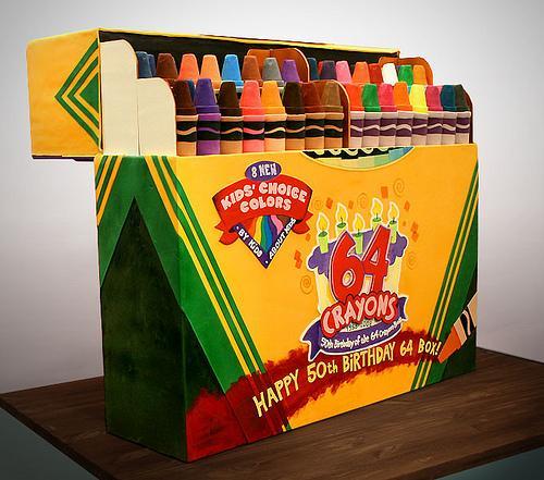 crayola crayons cake Realistic Crayola 64 Box Cake Brings the Noms