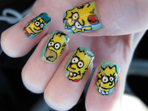 the-simpsons-nail-design