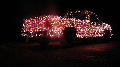 You Might Be A Redneck Truck Covered In Christmas
