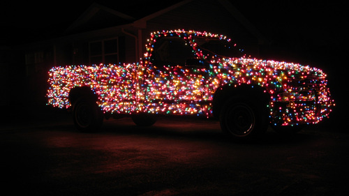 you might be a redneck truck covered in christmas lights gearfuse. Black Bedroom Furniture Sets. Home Design Ideas