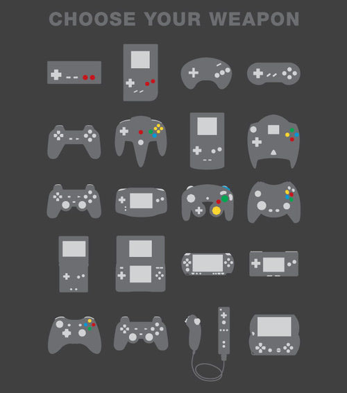 Choose Your Weapon Of Choice Video Game Controller Shirt Gearfuse