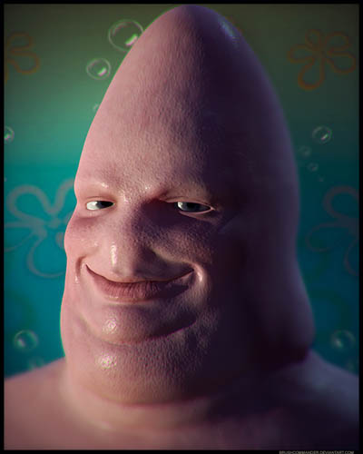 Cone In Real Life: Untooned: Patrick Star In Real Life