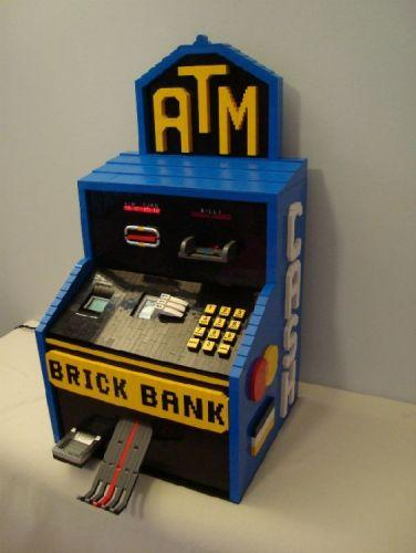 Functional Atm Made Out Of Legos Gearfuse