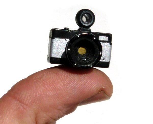 Functioning Pinhole Camera Small Enough To Fit On The Tip