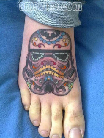 This Stormtrooper Sugar Skull tat might just be my next tattoo.