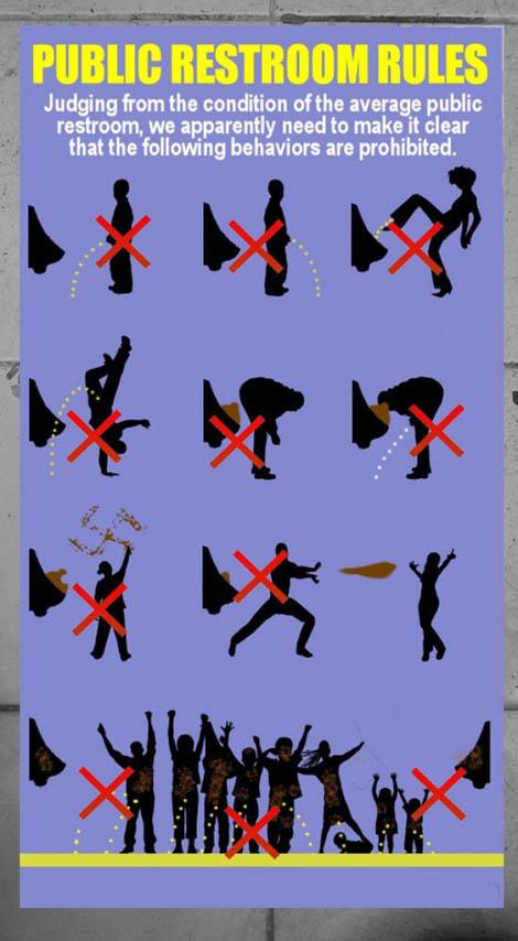 Public Restroom Rules Please No Mortal Kombat Gearfuse