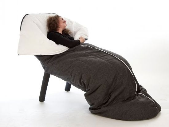The New Snuggie? Quilt-Wrapped Armchair Keeps You Warm and Relaxed, But Looks Terrifically Kitschy