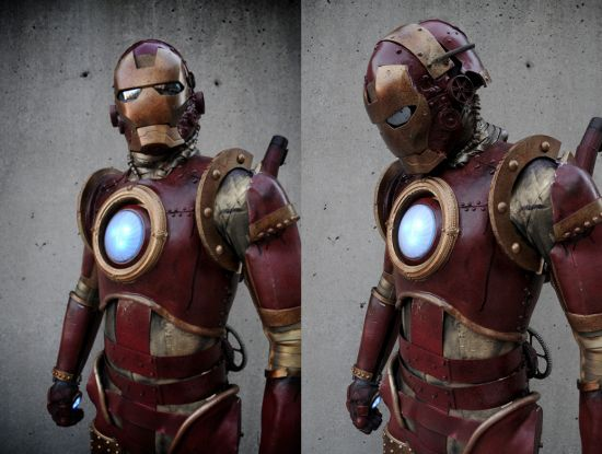 Films et Séries sauce Steampunk ! Iron-man-steampunk
