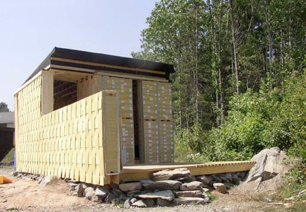 Shed Built Using 7,000 Recycled Phone Books