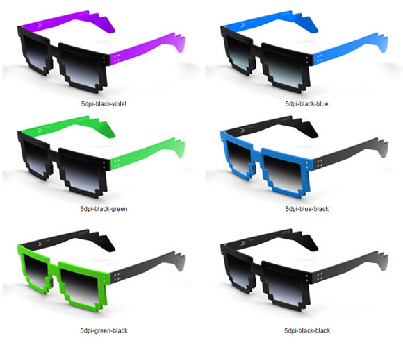 Pixelated Glasses: Available in Both 5 & 6 DPI