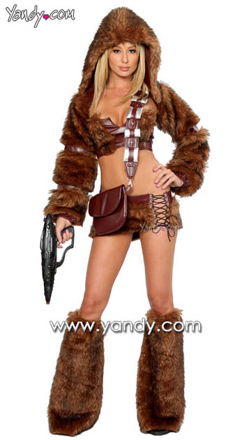 sexy star wars 1 Sexy Star Wars Costumes: Chewbacca is Such a Bad Girl