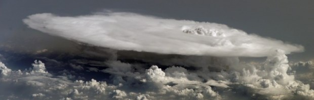 Massive thunderstorm over West Africa, photographed by International Space Station crew in 2008.