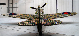 Airplane Made Out Of 6,500 Egg Cartons