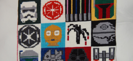 Cross-Stitched Star Wars Pillow and Blanket Set