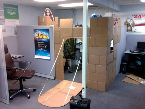how to amuse yourself at work build a cubicle fort gearfuse