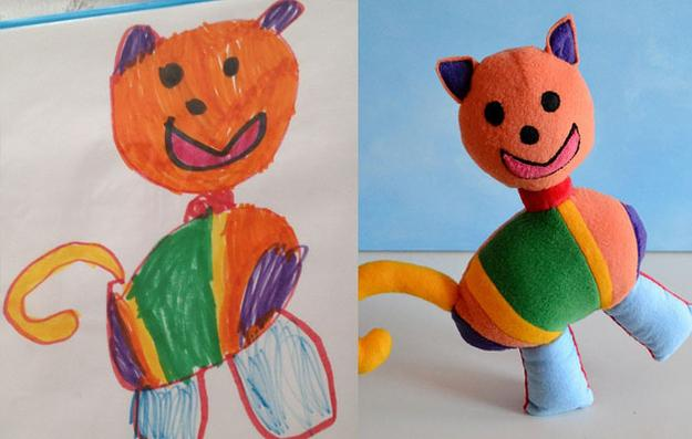 Children's Drawings Made Into Stuffed Animals