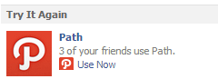 In Enemy Territory: Path Now Advertising On Facebook