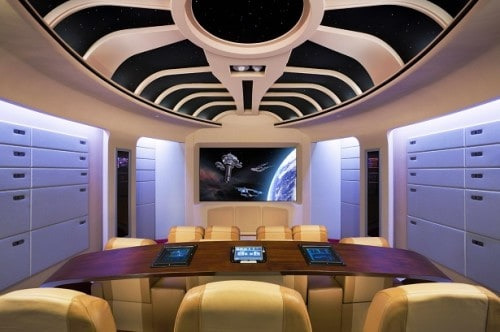Star Trek Home Theater Roof