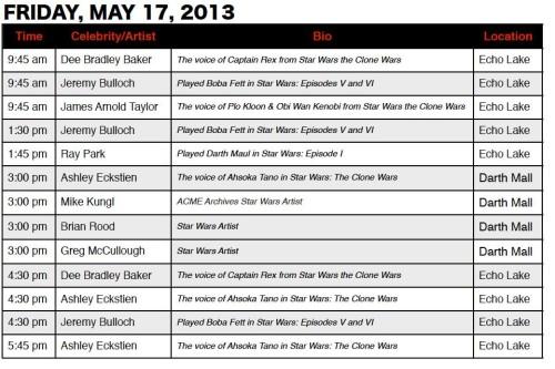 Star Wars Weekend Signings