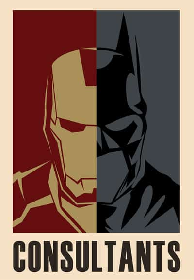 Superhero Consultants Iron Man and Batman By Franchie