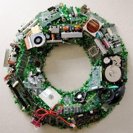 Tech Christmas Wreath