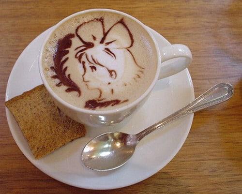 Anime Coffee Art