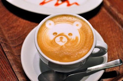 Bear Coffee Art