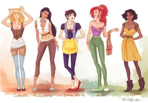 New looks for the disney princesses science and technology